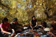 Uzbekistan hiking trekking picnic in Ugam-Chatkal national park Paltau valley
