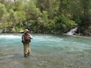 Uzbekistan rainbow trout fishing in Ugam-Chatkal national park