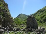 Uzbekistan hiking trekking in Ugam-Chatkal national park to Aksarsay waterfall