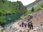 Uzbekistan hiking trekking tour in Ugam-Chatkal national park to Urungach mountain lakes