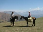 Uzbekistan  mountain horse riding to Pulatkhan plateau in Ugam-Chatkal national park