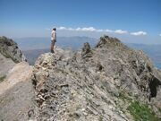 Uzbekistan trekking hiking tour in Ugam-Chatkal national park to peak of mountain Big Chimgan