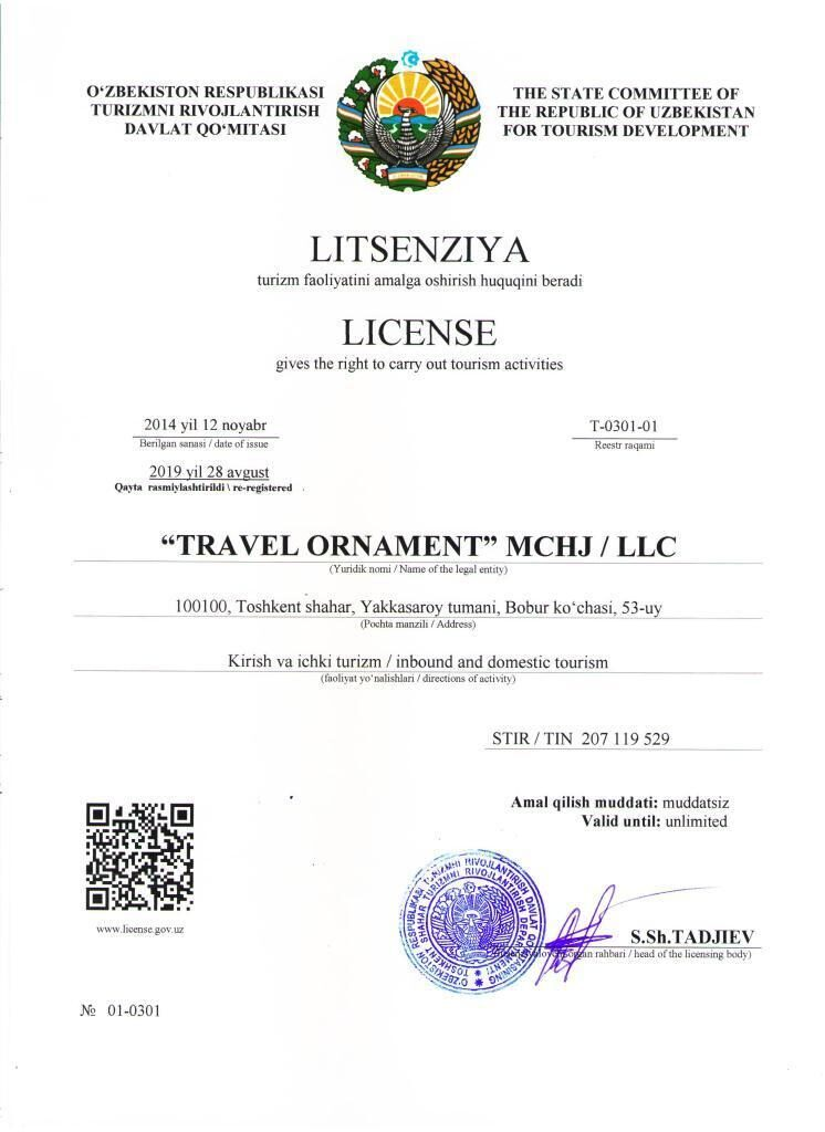 License Travel Ornament New